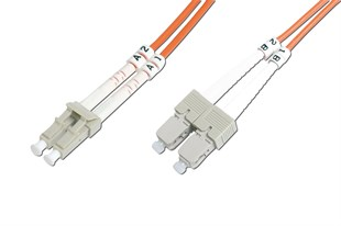 Beek BC-FO-5LCSC-01 LC-SC Fiber Optik Patch Kablo,1 metre,Multimode,3.0mm Duplex,50-125,OM 2,LSZH