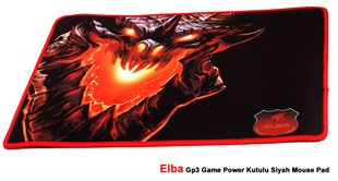 Elba 350 GP3 Game Power Siyah Mouse Pad (Kutulu)