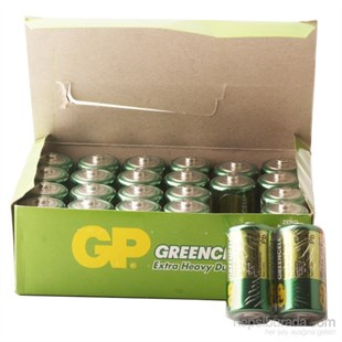 GP Greencel R14 Orta Boy Çinko Pil 24lü Paket GP14G-2S2